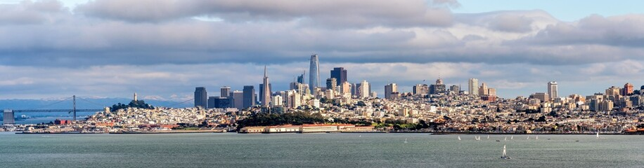 Photo sur Plexiglas San Francisco Panorama Skyline San Francisco
