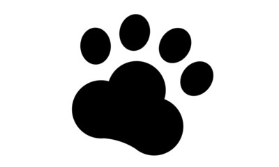 Paw Print. Vector illustration isolated on white.