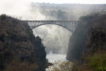 The bridge over the Zambezi river Victoria falls