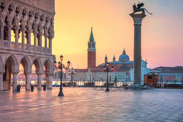 Venice. Cityscape image of St. Mark's square in Venice during sunrise.