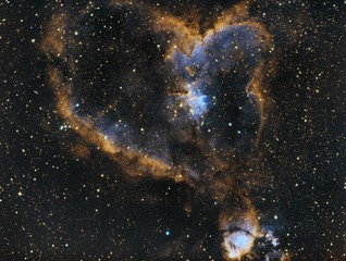 Heart Nebula or IC 1805.