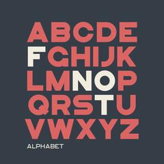 Heavy sans serif typeface design. Vector alphabet, letters, font
