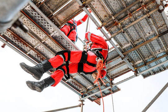 Work at height by rope access