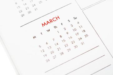 march calendar page.