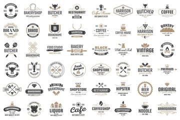 Fototapeta Restaurant Retro Vector Logo for banner obraz
