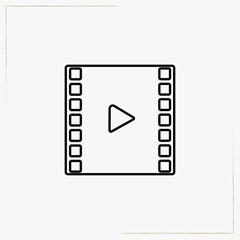 video film line icon