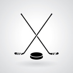 Hockey icon. Vector illustration