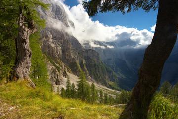 Landscape under Moistrovka peak, Triglav National Park, Slovenia