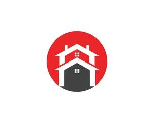 Real estate and building home logo design