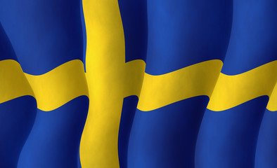 Swedish flying flag