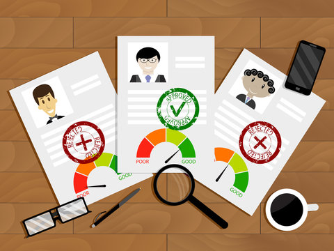 Evaluation of candidate for loan