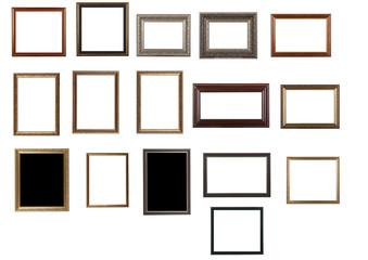 Antique frame isolated on white background