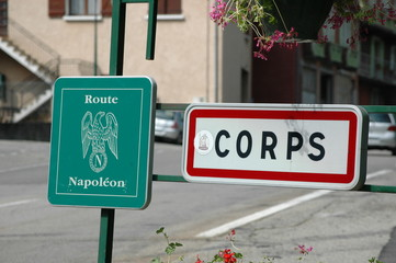 Road Sign Napoleon Route France