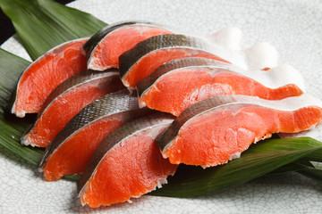 紅鮭の切身