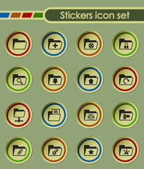 folder round sticker icons for your creative ideas
