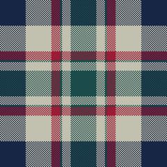 Tartan plaid classic pixel fabric texture seamless pattern