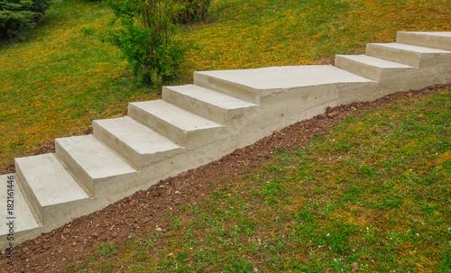 Gartenarchitektur Aussentreppe Im Rohbau Aus Beton Garden