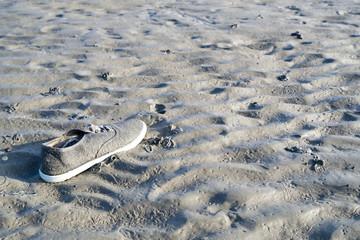 lost shoe in the Wadden Sea