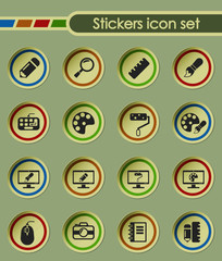 design round sticker icons for your creative ideas