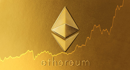 Ethereum symbol with chart