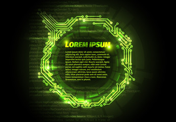 Green Electrical Circuit Web Banner