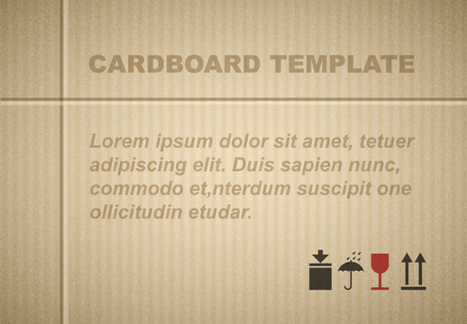 Carboard Textured Layout with Postal Pictograms