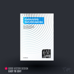 Design of business vector template, brochure