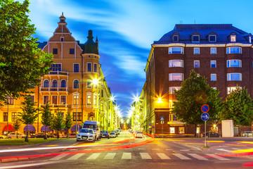 Evening in Helsinki, Finland