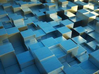3D abstract blocks