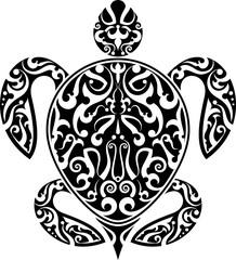 Turtle Tribal Tattoo Artistic