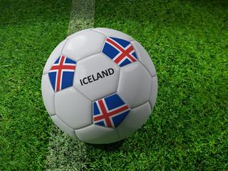 Iceland soccer ball
