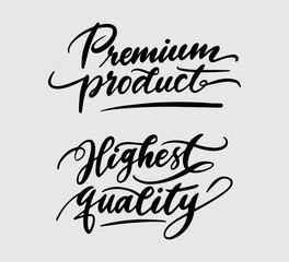 premium product and highest quality handwriting typography. Good use for logotype, symbol, cover label, product, brand, poster title or any graphic design you want. Easy to use or change color