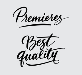 Premieres and best quality handwriting typography. Good use for logotype, symbol, cover label, product, brand, poster title or any graphic design you want. Easy to use or change color