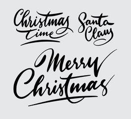 christmas handwriting typography. Good use for logotype, symbol, cover label, product, brand, poster title or any graphic design you want. Easy to use or change color