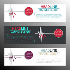 Infographic banner design. Medical conception. Vector