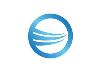 sphere wave dynamic logo