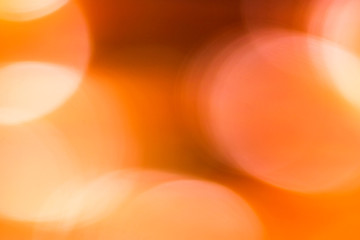 Abstract blurred orange background with big bokeh, photo