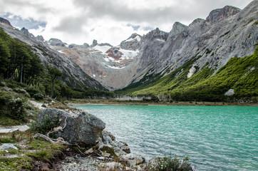Laguna Esmeralda in Tierra del Fuego near Ushuaia, Patagonia, Argentina