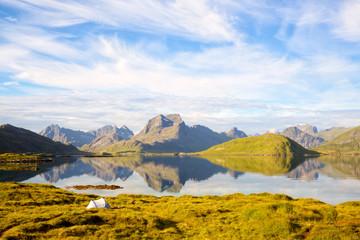 Fotomurales - Lofoten Islands landscape in Norway