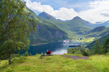 Couple in love dreams of a cruise in Norway