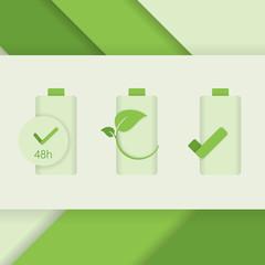 accumulator battery indicators icons