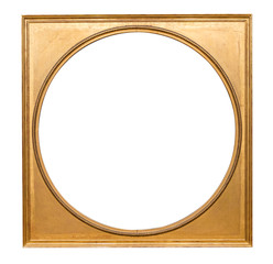 Round gold picture frame