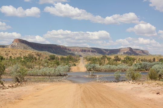 Pentecost River Crossing on Gibb River Road in Kimberly Region, Western Australia