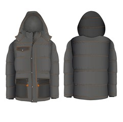 Winter hooded jacket with
