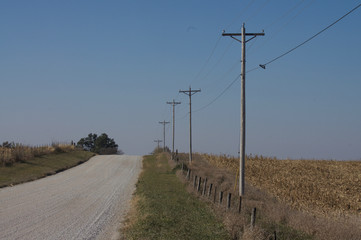 Electric Pole Gravel Road
