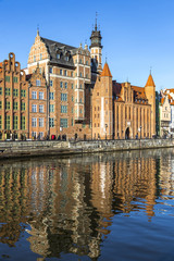 Colourful historic houses in Gdansk Old Town, Poland