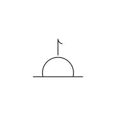sunrise line vector icon