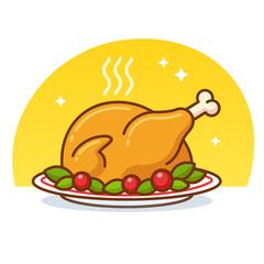 Roast turkey icon