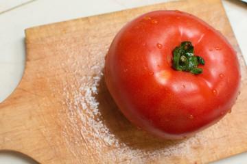 Tomato on a board