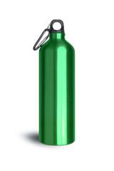 Metallic green water bottle